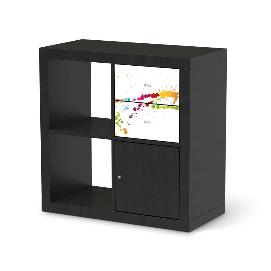 Möbelfolie IKEA Splash 2 - IKEA Expedit Regal Schubladen - schwarz