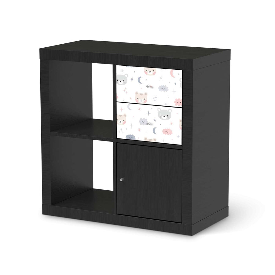 Möbelfolie IKEA Sweet Dreams - IKEA Expedit Regal Schubladen - schwarz
