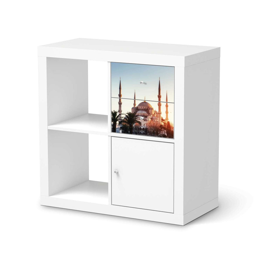 Möbelfolie IKEA Blue Mosque - IKEA Expedit Regal Schubladen  - weiss