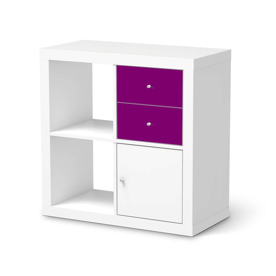 Möbelfolie IKEA Flieder Dark - IKEA Expedit Regal Schubladen  - weiss