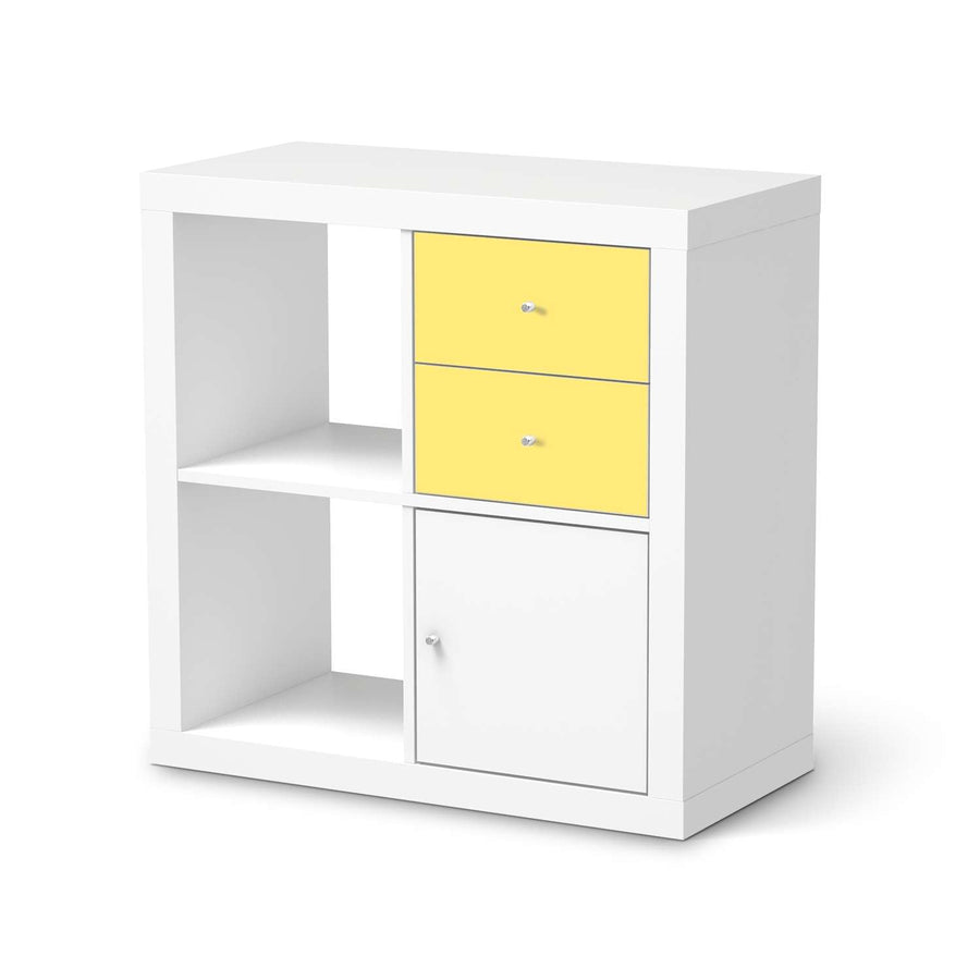 Möbelfolie IKEA Gelb Light - IKEA Expedit Regal Schubladen  - weiss