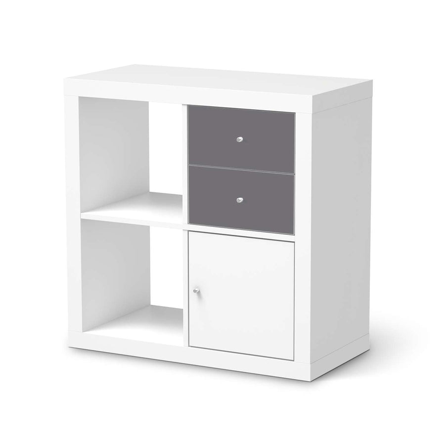 Möbelfolie IKEA Grau Light - IKEA Expedit Regal Schubladen  - weiss
