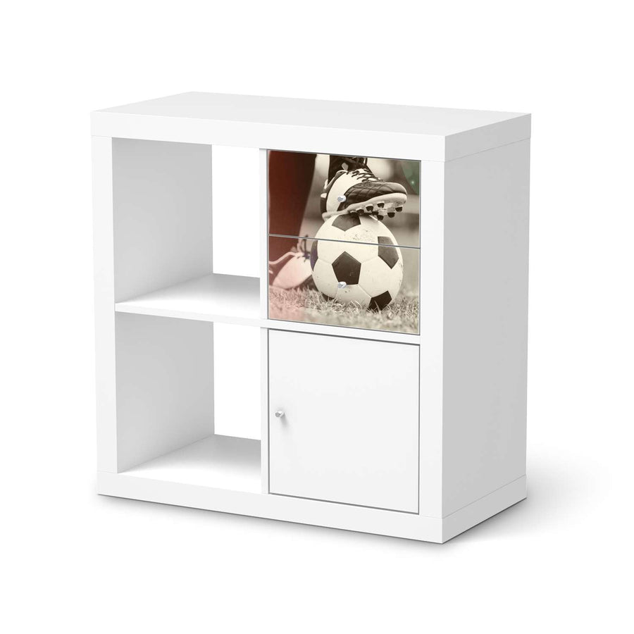 Möbelfolie IKEA Kick it - IKEA Expedit Regal Schubladen  - weiss