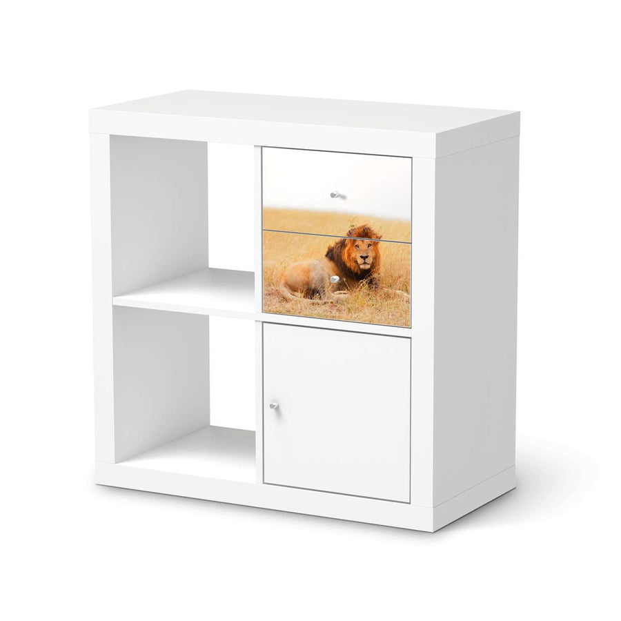 Möbelfolie IKEA Lion King - IKEA Expedit Regal Schubladen  - weiss