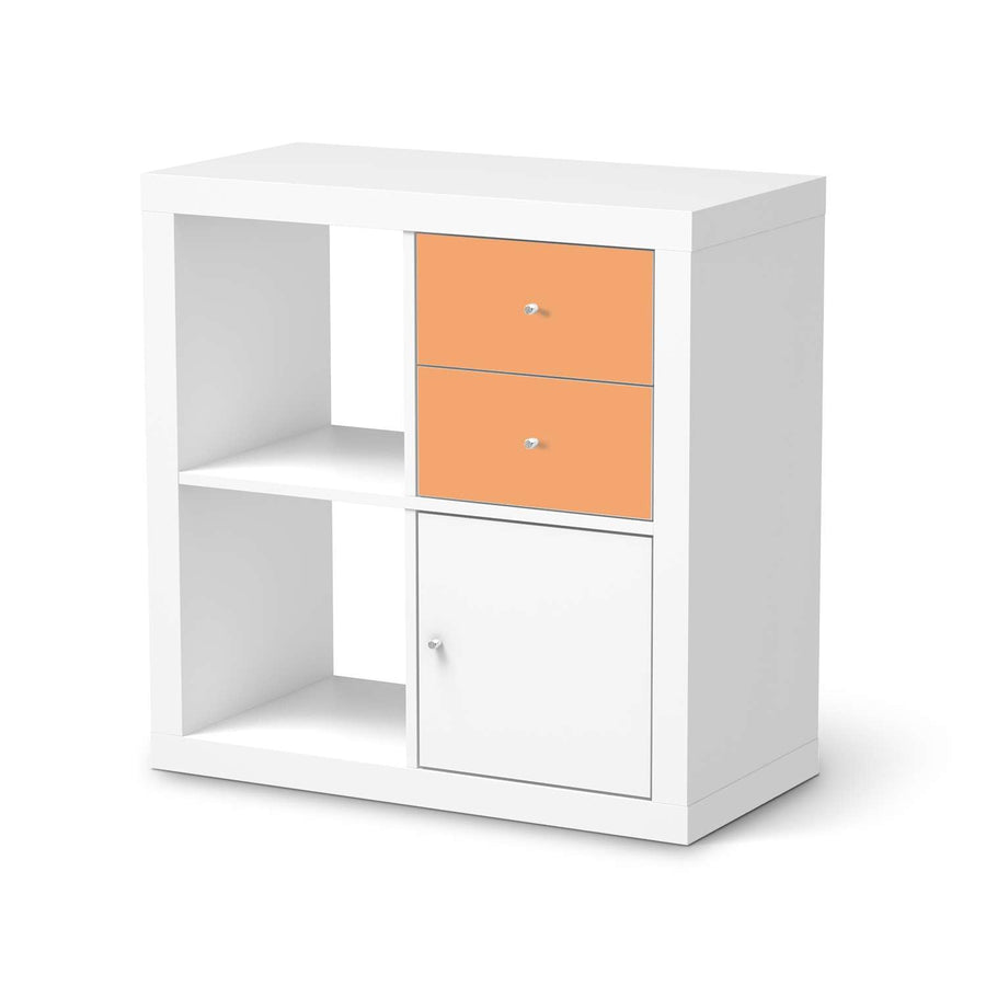 Möbelfolie IKEA Orange Light - IKEA Expedit Regal Schubladen  - weiss