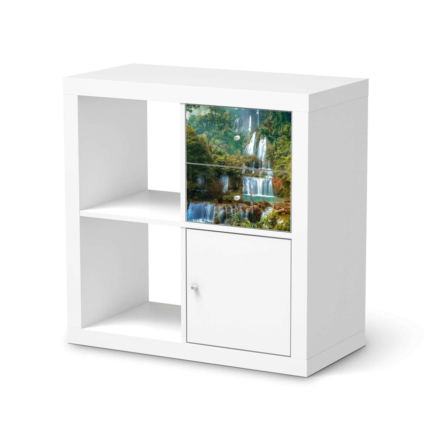Möbelfolie IKEA Rainforest - IKEA Expedit Regal Schubladen  - weiss