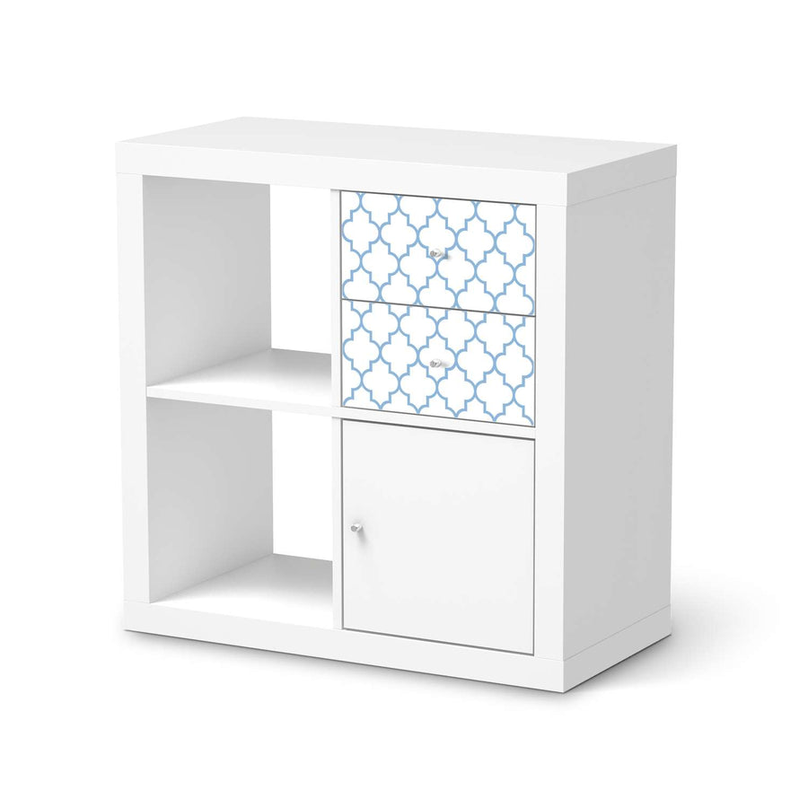 Möbelfolie IKEA Retro Pattern - Blau - IKEA Expedit Regal Schubladen  - weiss