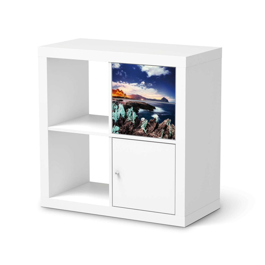 Möbelfolie IKEA Seaside - IKEA Expedit Regal Schubladen  - weiss
