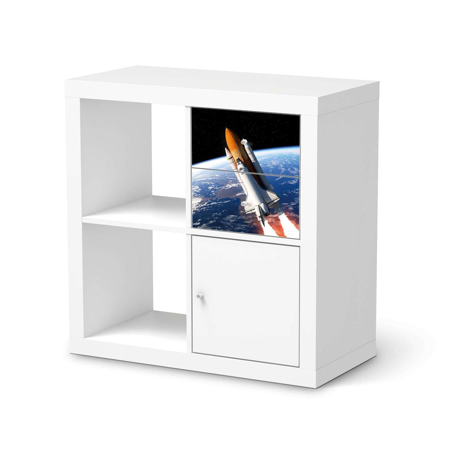 Möbelfolie IKEA Space Traveller - IKEA Expedit Regal Schubladen  - weiss