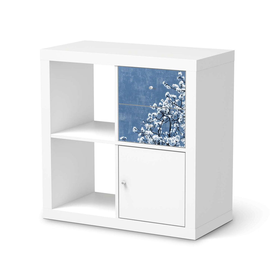 Möbelfolie IKEA Spring Tree - IKEA Expedit Regal Schubladen  - weiss