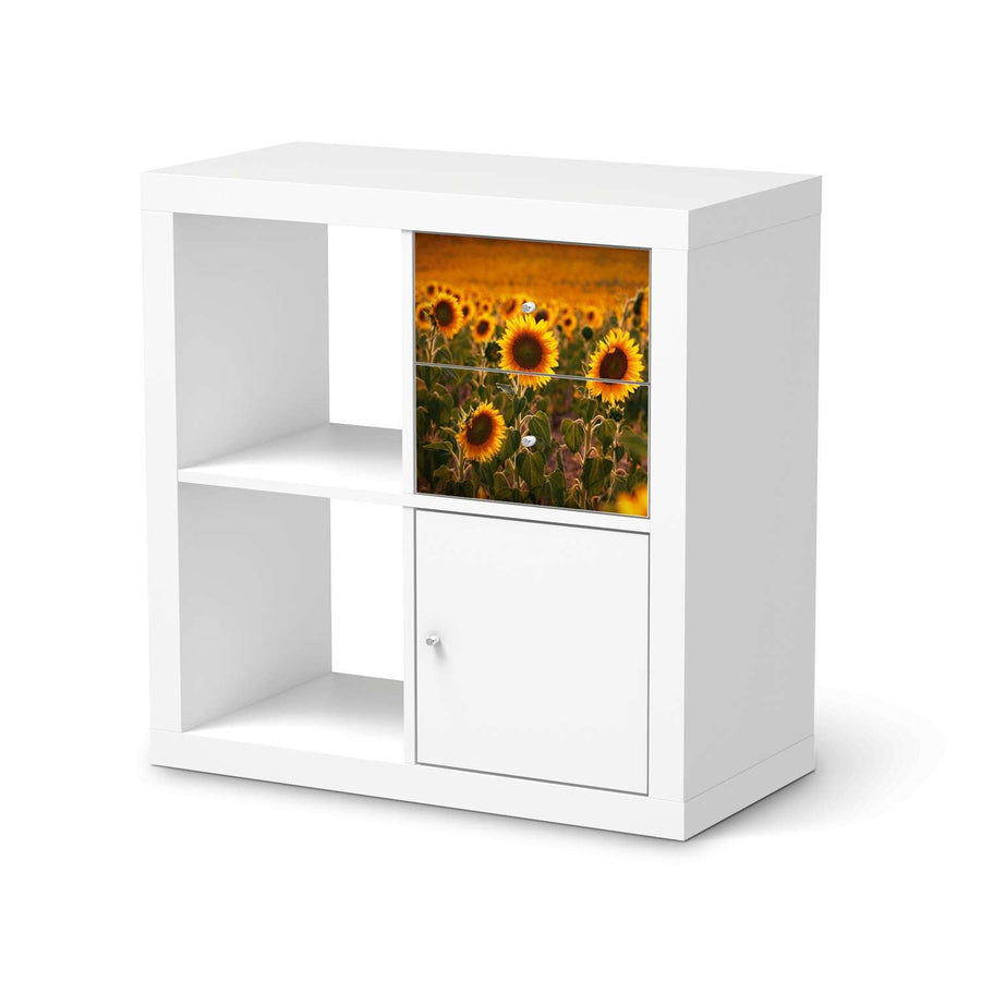 Möbelfolie IKEA Sunflowers - IKEA Expedit Regal Schubladen  - weiss