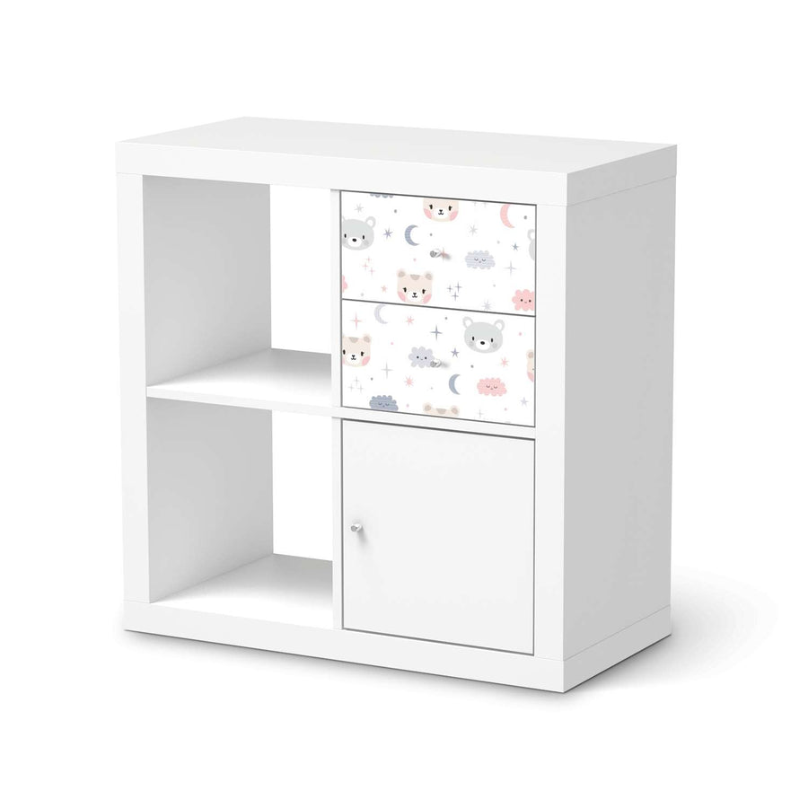 Möbelfolie IKEA Sweet Dreams - IKEA Expedit Regal Schubladen  - weiss