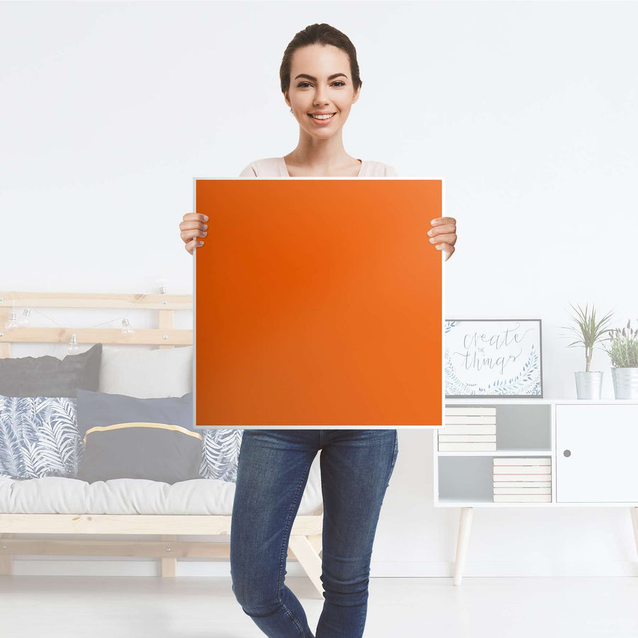 Möbelfolie Orange Dark - IKEA Lack Tisch 55x55 cm - Folie
