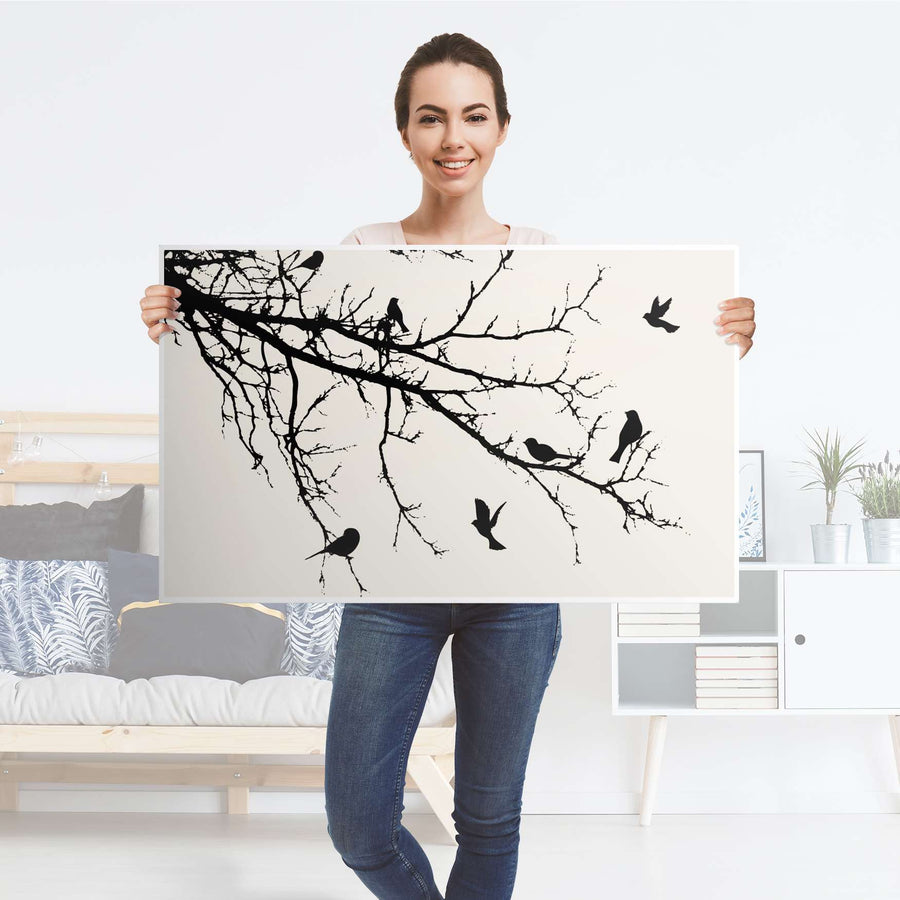 Möbelfolie Tree and Birds 1 - IKEA Lack Tisch 90x55 cm - Folie