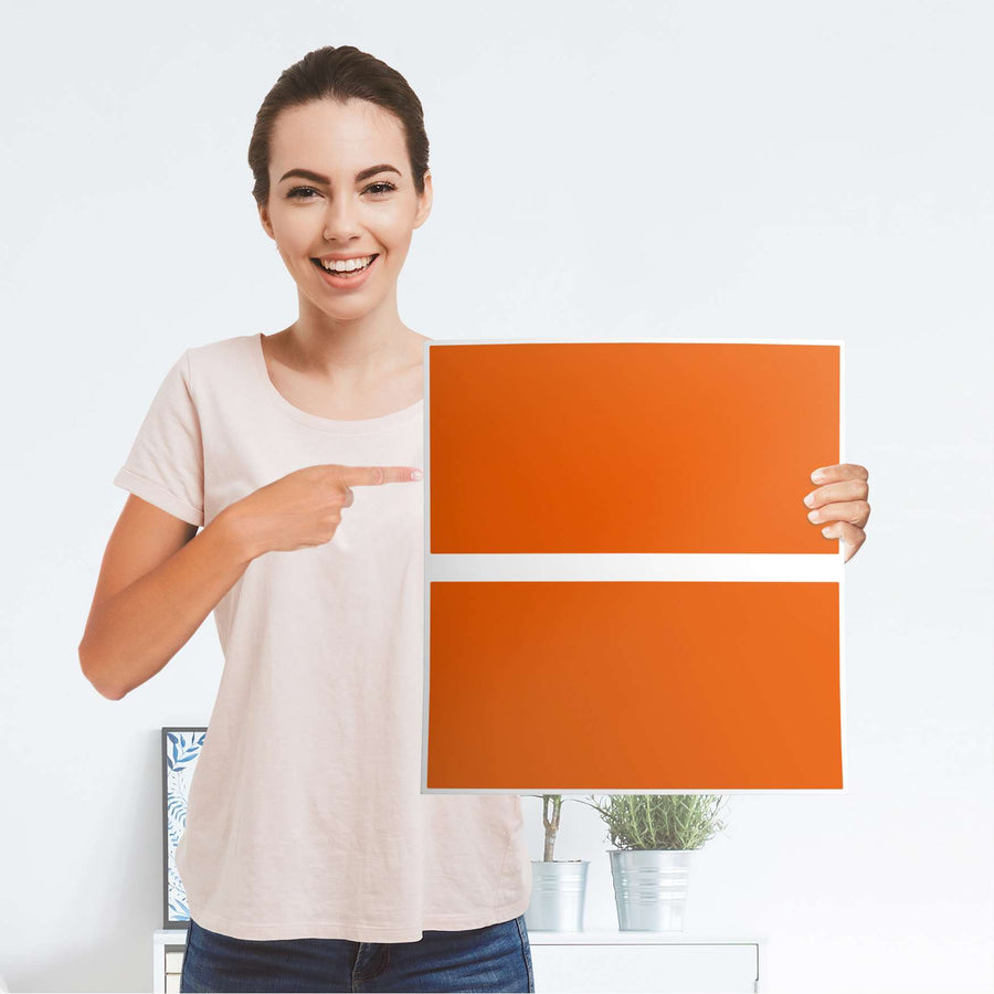 Möbelfolie Orange Dark - IKEA Malm Kommode 2 Schubladen - Folie