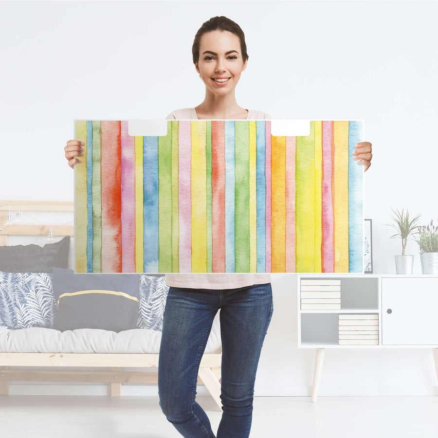Möbelfolie Watercolor Stripes - IKEA Stuva Banktruhe - Folie