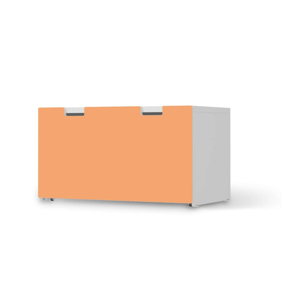 Möbelfolie Orange Light - IKEA Stuva Banktruhe  - weiss