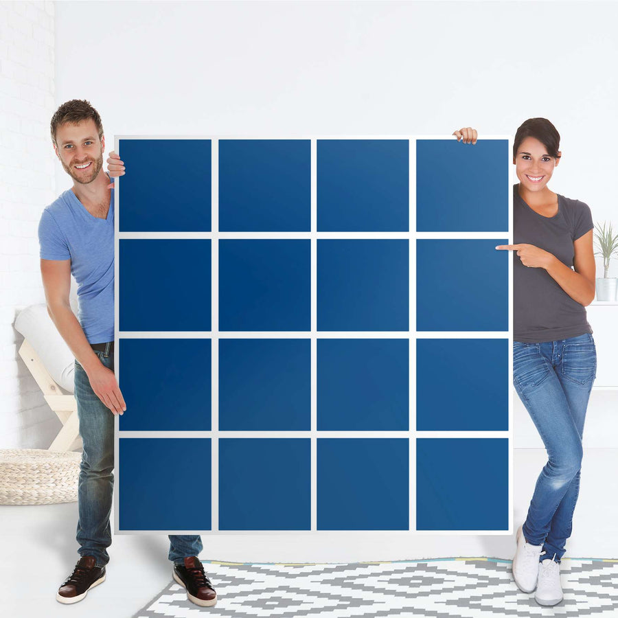 Selbstklebende Folie Blau Dark - IKEA Expedit Regal 16 Türen - Folie