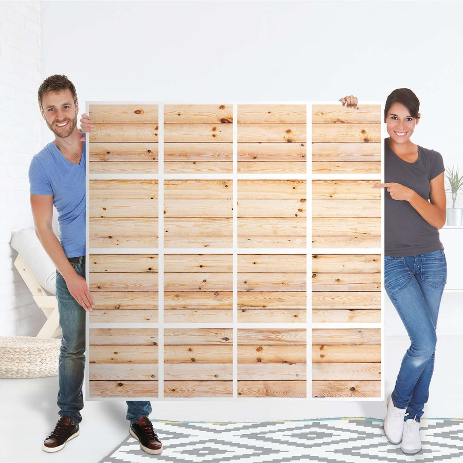 Selbstklebende Folie Bright Planks - IKEA Expedit Regal 16 Türen - Folie