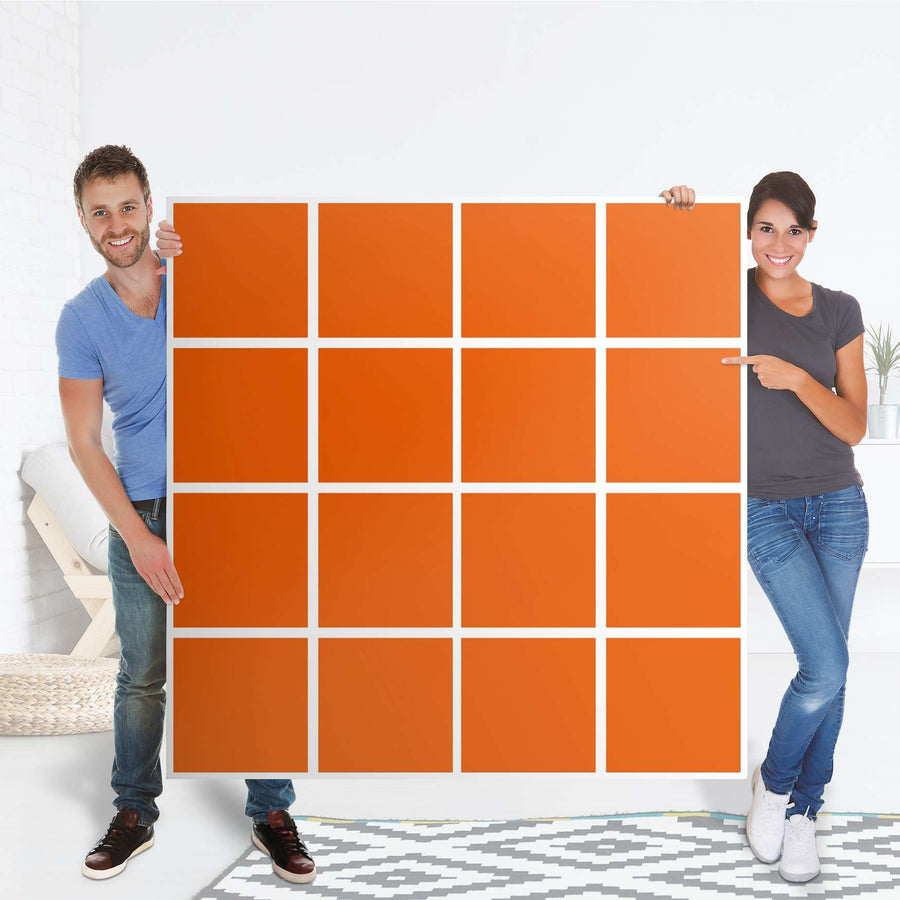 Selbstklebende Folie Orange Dark - IKEA Expedit Regal 16 Türen - Folie