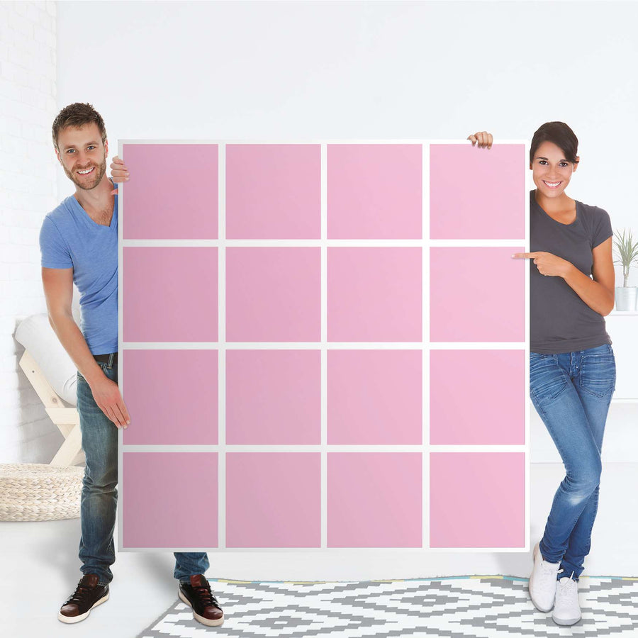 Selbstklebende Folie Pink Light - IKEA Expedit Regal 16 Türen - Folie