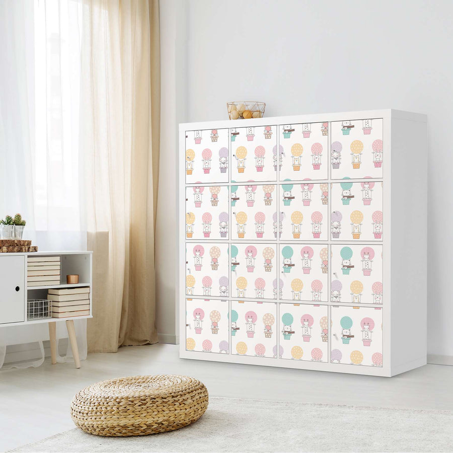 Selbstklebende Folie Flying Animals - IKEA Expedit Regal 16 Türen - Kinderzimmer