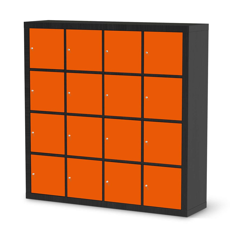 Selbstklebende Folie Orange Dark - IKEA Expedit Regal 16 Türen - schwarz