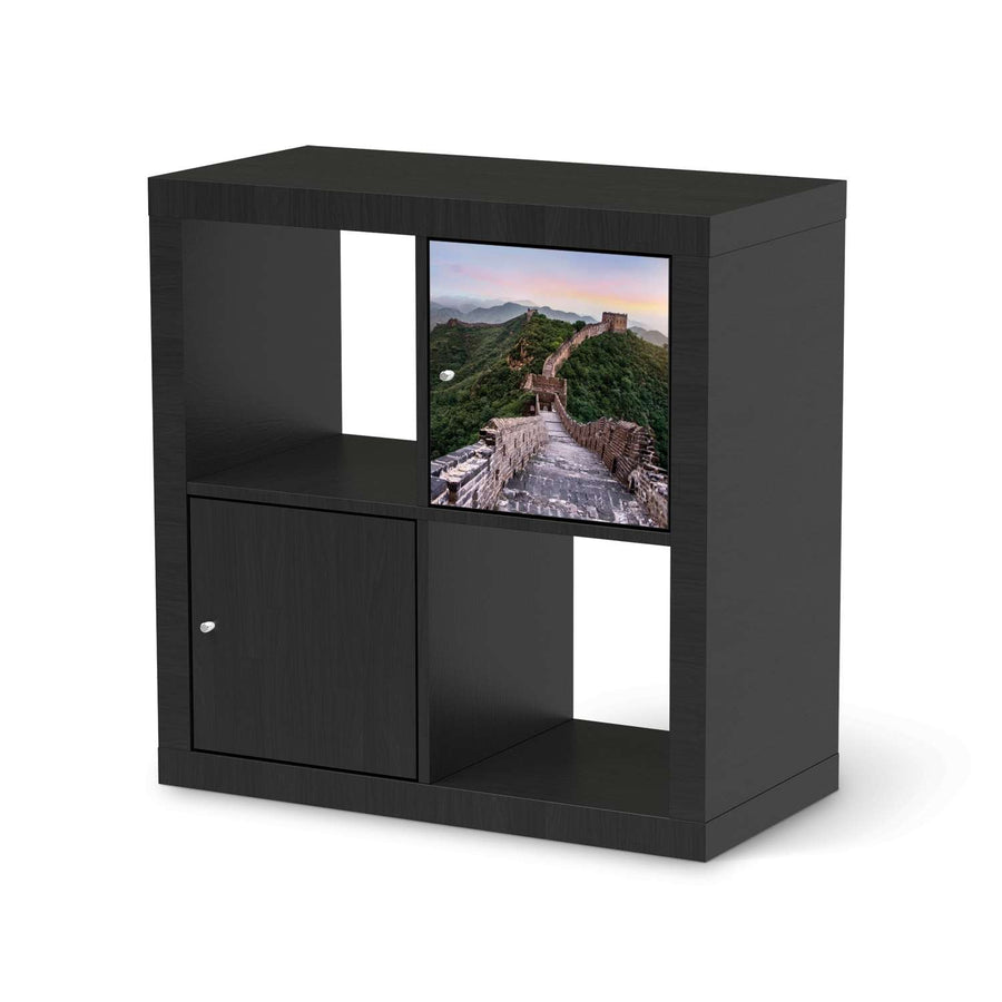 Selbstklebende Folie The Great Wall - IKEA Kallax Regal 1 Türe - schwarz
