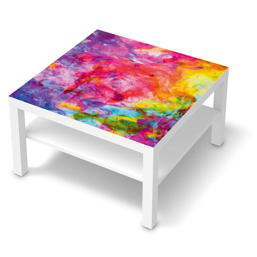 Selbstklebende Folie Abstract Watercolor - IKEA Lack Tisch 78x78 cm - weiss