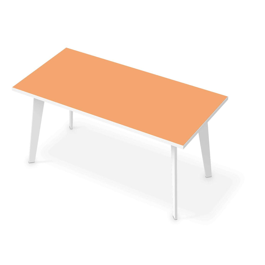 Tischfolie Orange Light - Esszimmer Tisch 160x80 cm
