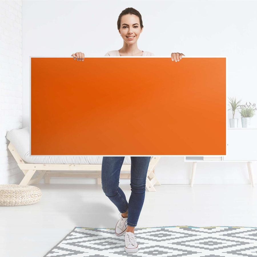 Tischfolie Orange Dark - Tisch 160x80 cm - Folie