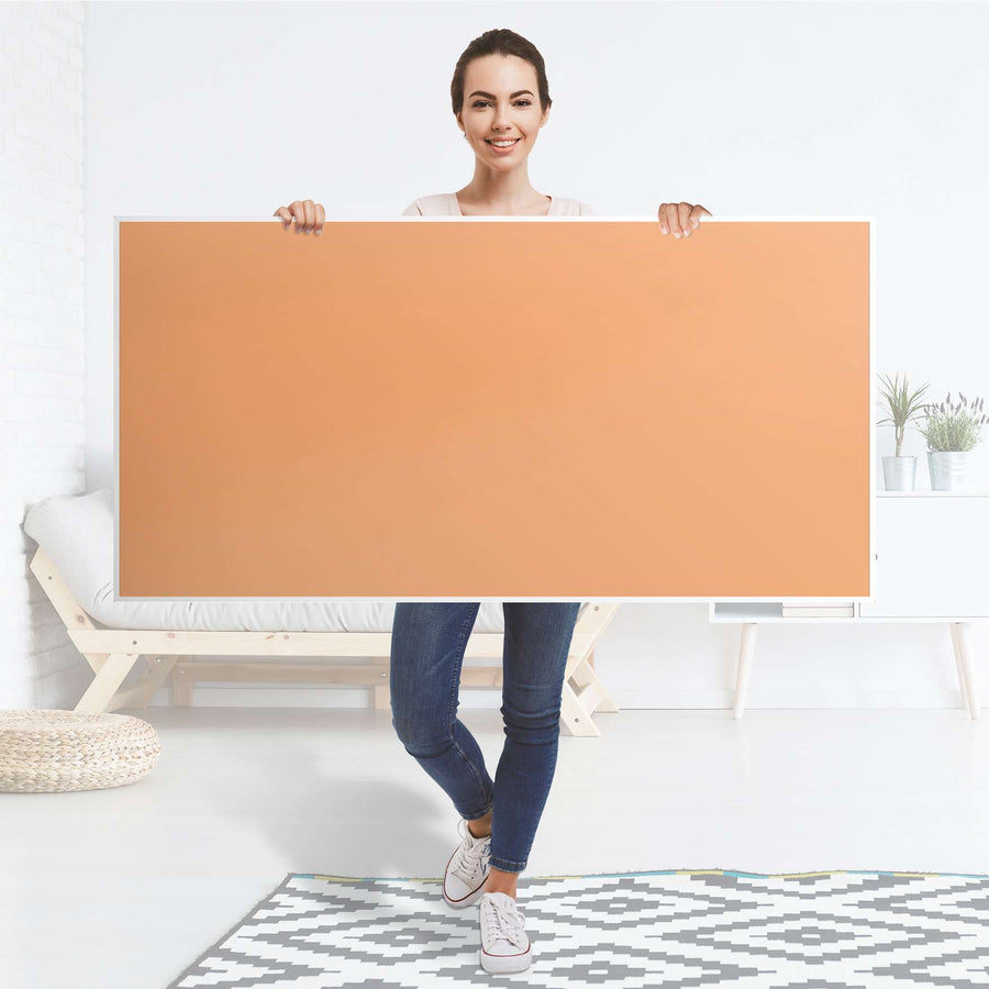 Tischfolie Orange Light - Tisch 160x80 cm - Folie