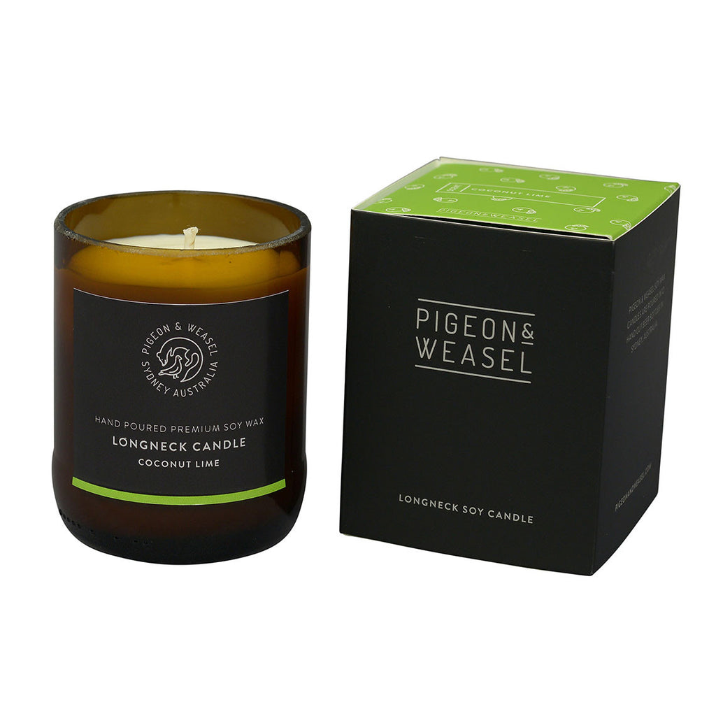 Coconut Lime Longneck Candle - Pigeon & Weasel