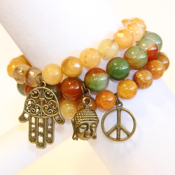 Autumn Buddha Bracelet Set