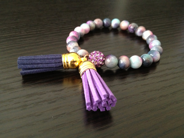 Purple Tassel Bracelet