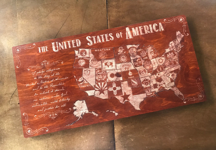 The United States Of America Wood Puzzle