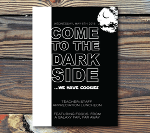 Party Invitations-Come to the Dark Side(Star Wars)