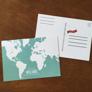 Postcards-Missionary Map (World)