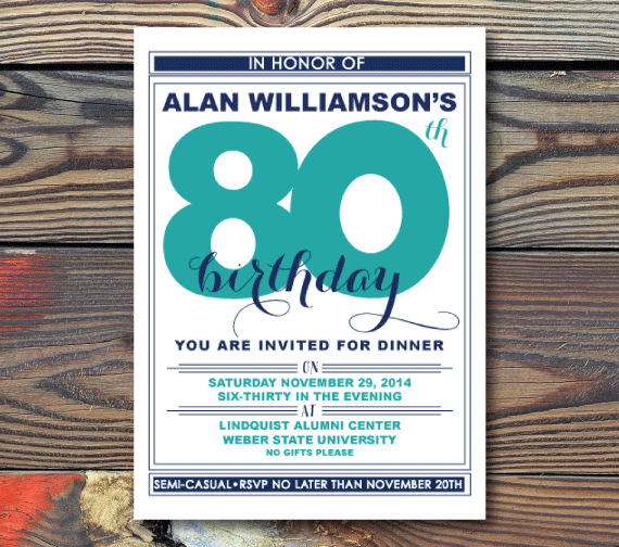 Birthday Invitations-Memorable