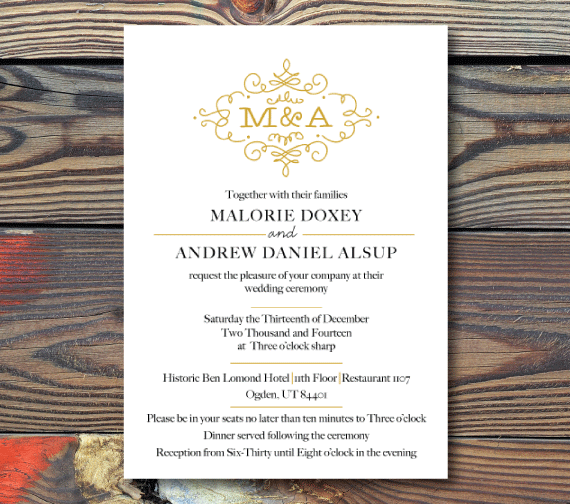 Wedding Invitations-Scroll
