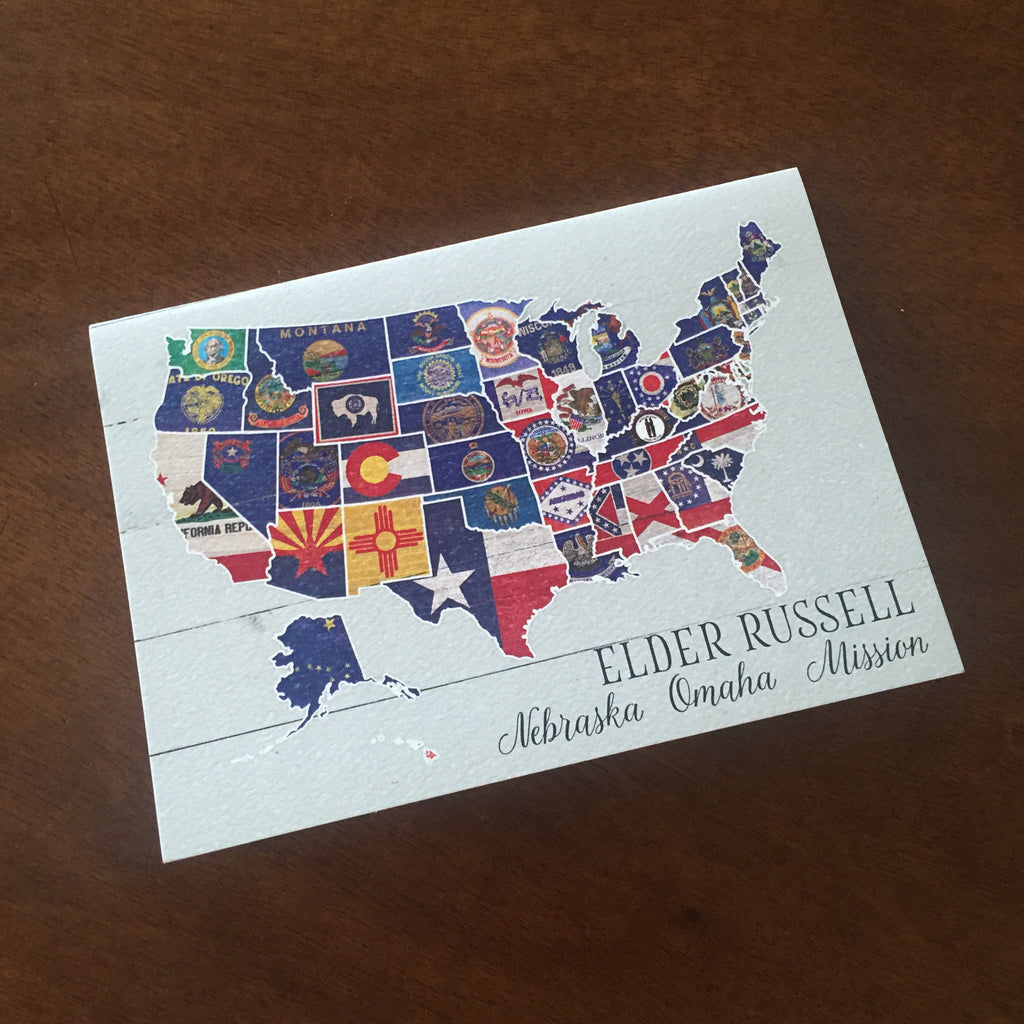 Notecards-Flag Map
