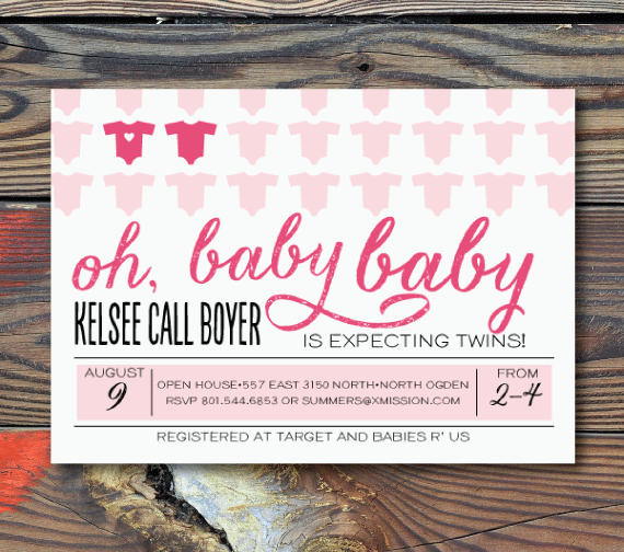 Baby Shower Invitations-Twins!
