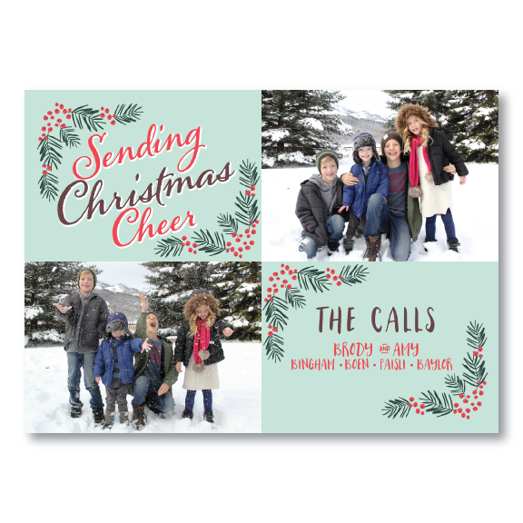 Holiday Card-Sending Christmas Cheer