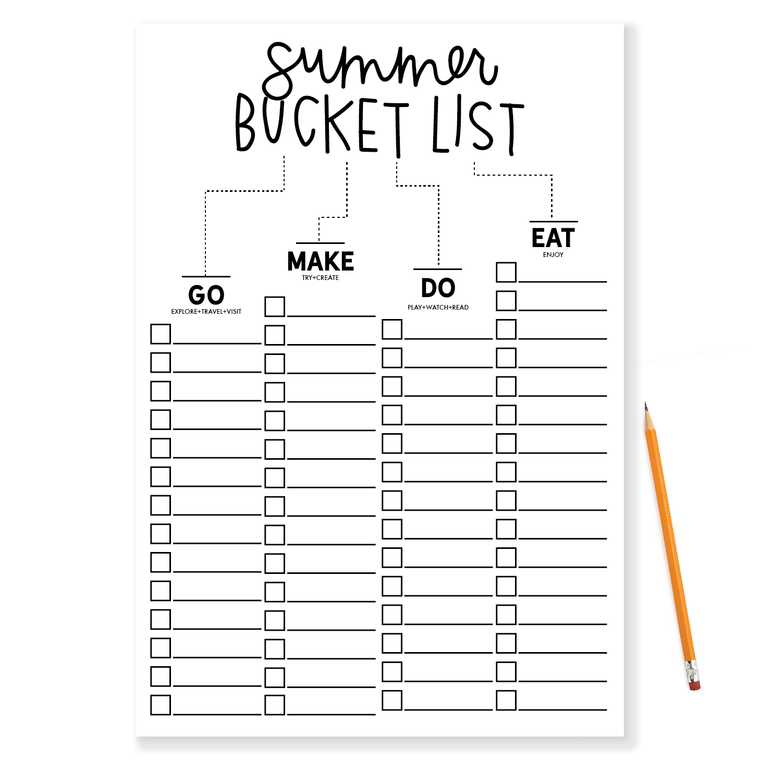 Posters-Summer Bucket List