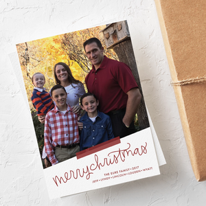 Holiday Card-Merry Christmas Baby