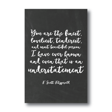 Art Prints-F. Scott Fitzgerald Quote