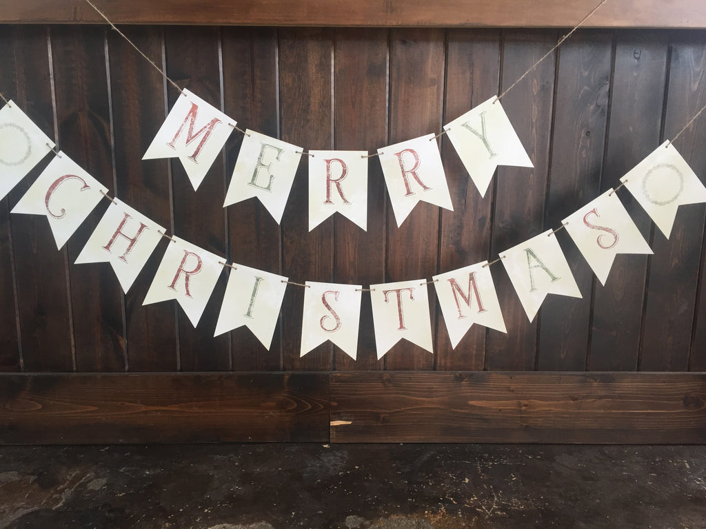 Bunting Banners-Merry Christmas