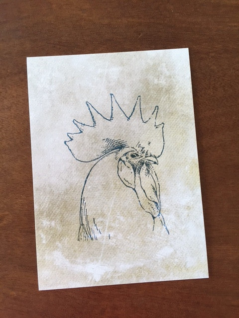 Art Prints - Farm Living Art Collection - Rooster Head