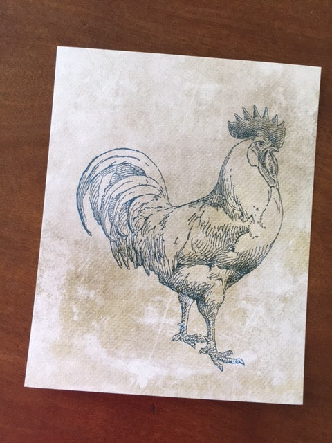 Art Prints - Farm Living Art Collection - Rooster