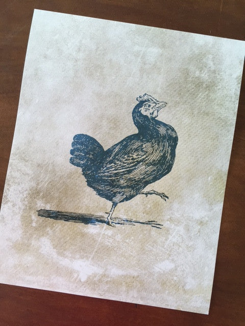 Art Prints - Farm Living Art Collection - Chicken